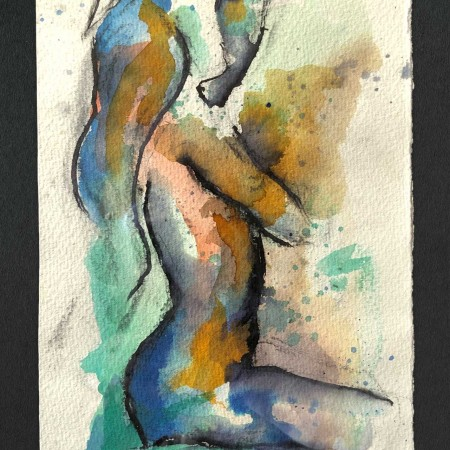 abstract female art