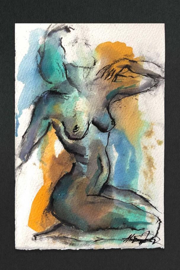 Study in Ink 5 by Alexandra Kay Vøhtz