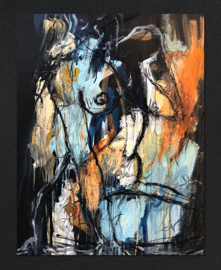 Figurative Study in Oil III by Alexandra Kay Vøhtz