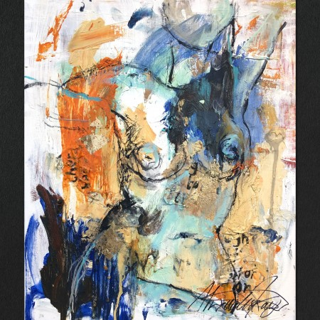 abstract art in oil