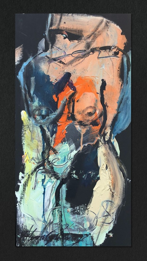 Figurative Study in Acrylic I by Alexandra Kay Vøhtz
