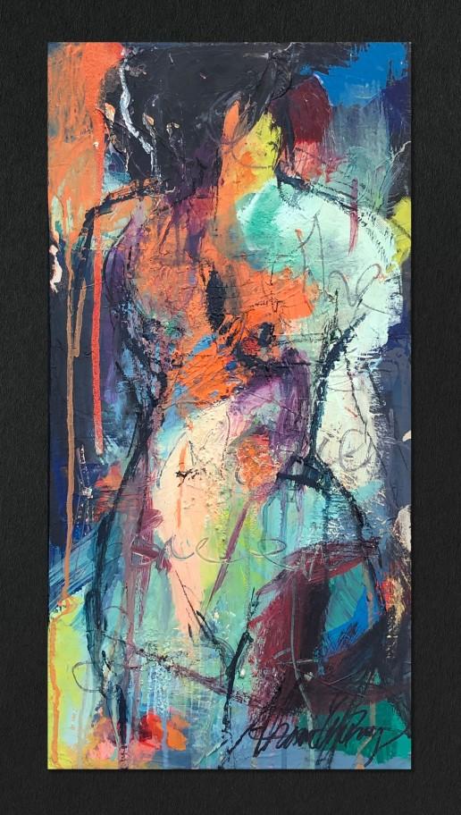 Figurative Study in Acrylic II by Alexandra Kay Vøhtz
